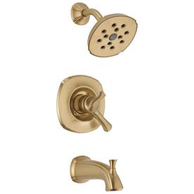 Delta Addison H2Okinetic Champagne Bronze 1-Handle Tub and Shower with Single Function Showerhead