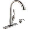 Delta Ashton Touch2O Stainless 1-Handle Pull-Down Sink/Counter Mount Kitchen Faucet