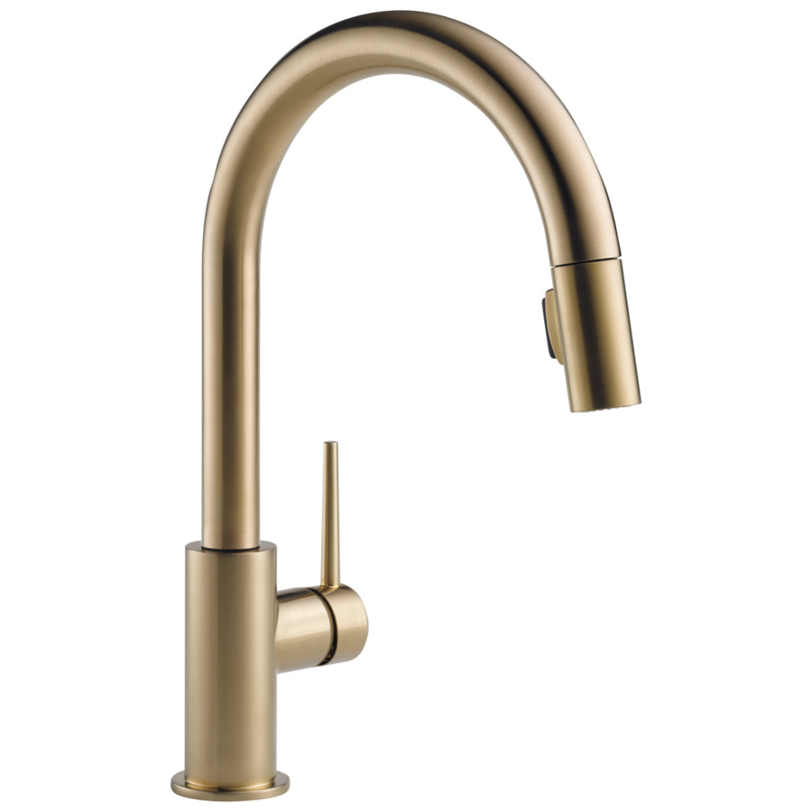 ... Delta Trinsic Champagne Bronze Pull-Down Kitchen Faucet at Lowes.com