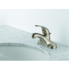 Delta Foundations Stainless 1-Handle 4-in Centerset WaterSense Bathroom Faucet (Drain Included)