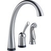 Delta Pilar Touch 1-Handle High-Arc Sink/Counter Mount Touch Kitchen Faucet Side Spray Included