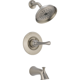 Delta Talbott Stainless 1-Handle WaterSense Bathtub and Shower Faucet with Single Function Showerhead