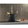 Delta Stainless 2-Handle Pot Filler Wall Mount Kitchen Faucet