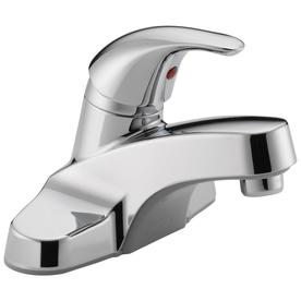 Peerless Chrome 1-Handle 4-in Centerset WaterSense Bathroom Faucet