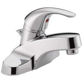 Peerless Chrome 1-Handle 4-in Centerset WaterSense Bathroom Faucet (Drain Included)