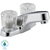 Peerless Chrome 2-Handle 4-in Centerset WaterSense Bathroom Faucet
