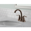 Delta Celice Venetian Bronze 2-Handle 4-in Centerset WaterSense Bathroom Faucet (Drain Included)
