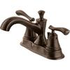 Delta Sentiment Venetian Bronze 2-Handle 4-in Centerset WaterSense Bathroom Sink Faucet (Drain Included)