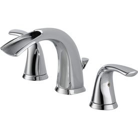 Delta Nyla Chrome 2-Handle Widespread WaterSense Bathroom Sink Faucet (Drain Included)