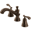 Delta Nura Venetian Bronze 2-Handle Widespread WaterSense Bathroom Faucet (Drain Included)