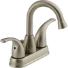 Peerless Transitional Brushed Nickel 2-Handle 4-in Centerset WaterSense Bathroom Sink Faucet (Drain Included)