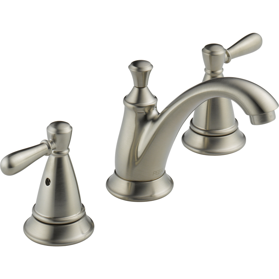 Shop peerless traditional brushed nickel 2 handle - Lowes kitchen sink faucet ...