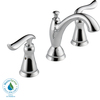 Delta Linden Chrome 2-Handle Widespread WaterSense Bathroom Sink Faucet (Drain Included)