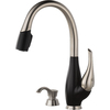 Delta Fuse Stainless and Black 1-Handle Pull-Down Kitchen Faucet
