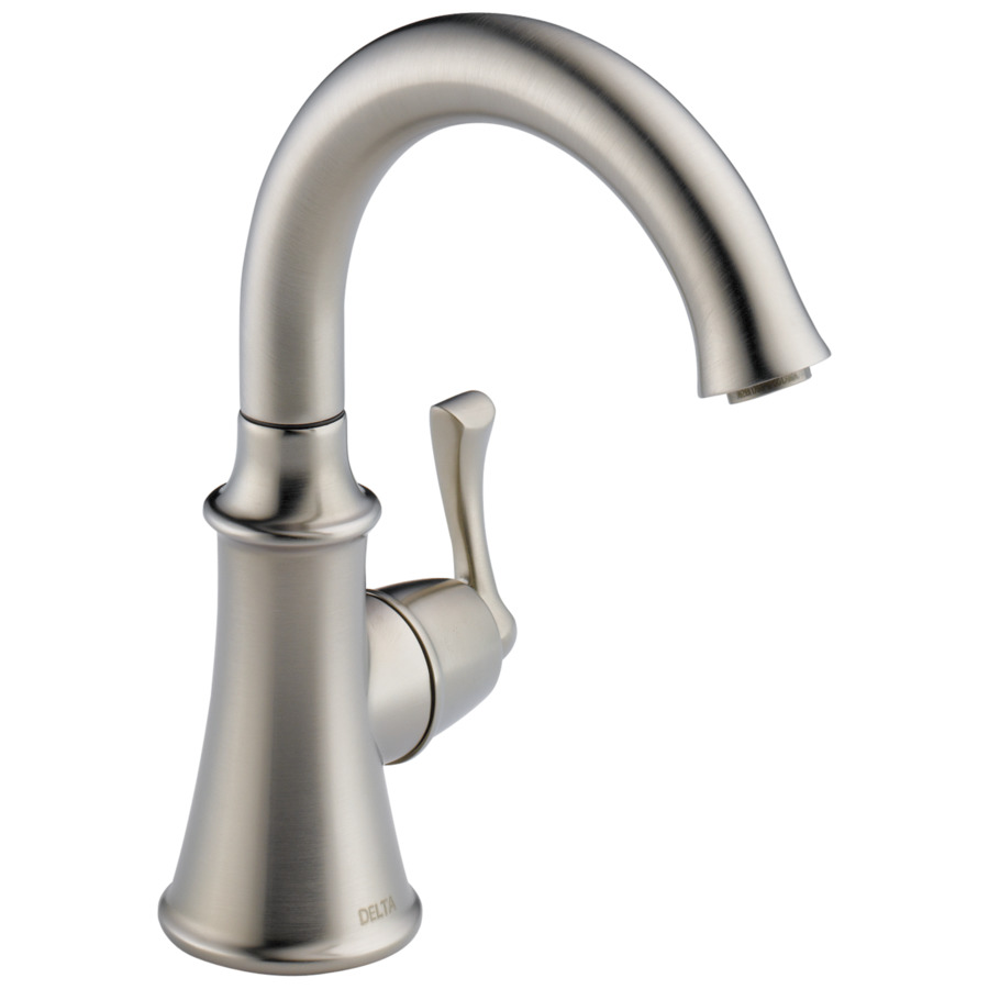 Shop Delta Traditional Butler Stainless High Arc Kitchen Faucet At