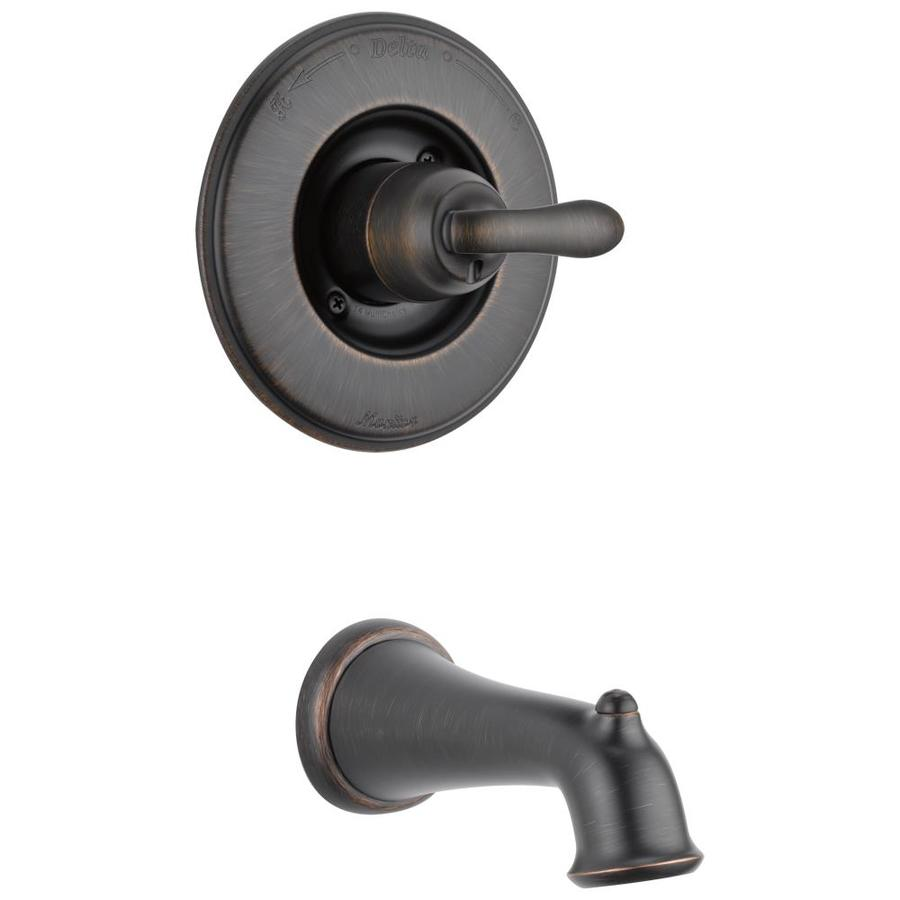 shop delta linden venetian bronze 1 handle fixed wall mount tub faucet