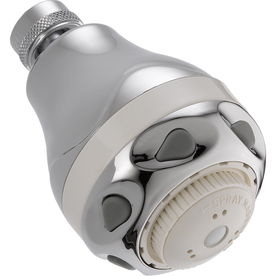 Delta 2.6718-in 2.5-GPM (9.5-LPM) Chrome 3-Spray WaterSense Showerhead