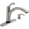 Delta Lewiston Touch2O Stainless 1-Handle Pull-Out Sink/Counter Mount Kitchen Faucet