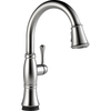 Delta Cassidy Touch2O Arctic Stainless 1-Handle Pull-Down Sink/Counter Mount Kitchen Faucet