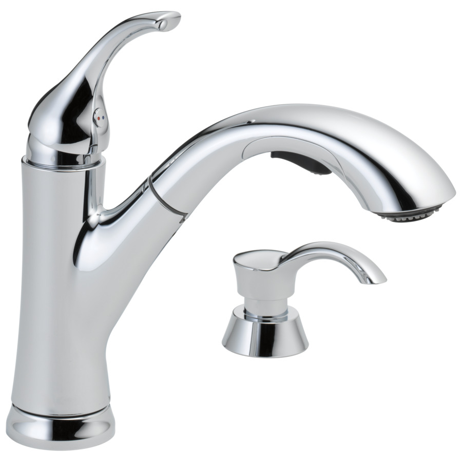 Delta Kitchen Sinks : ... Pull-Out Sink/Counter Mount Traditional Kitchen Faucet at Lowes.com