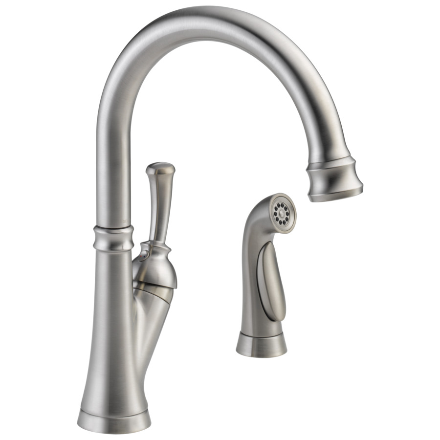 Shop Delta Savile Stainless 1 Handle High Arc Kitchen Faucet With Side Spray At