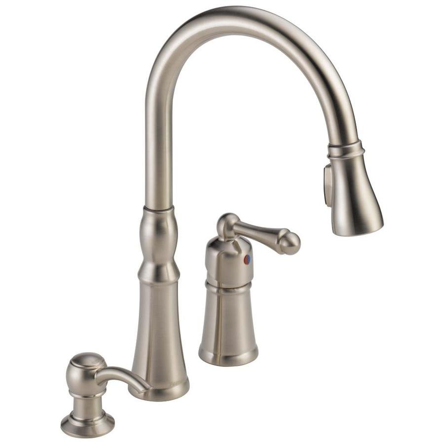 Shop Peerless Decatur Stainless 1 Handle Pull Down Kitchen Faucet At