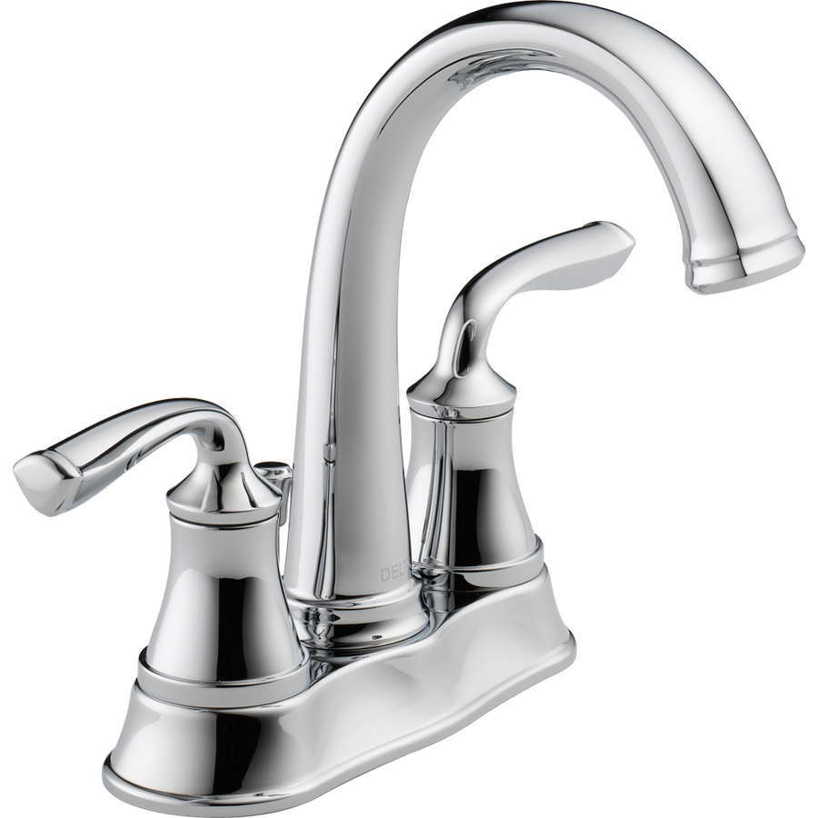 Shop delta lorain chrome 2 handle 4 in centerset for Bathroom faucets lowes