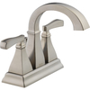 Delta Olmsted Stainless 2-Handle 4-in Centerset WaterSense Bathroom Faucet (Drain Included)