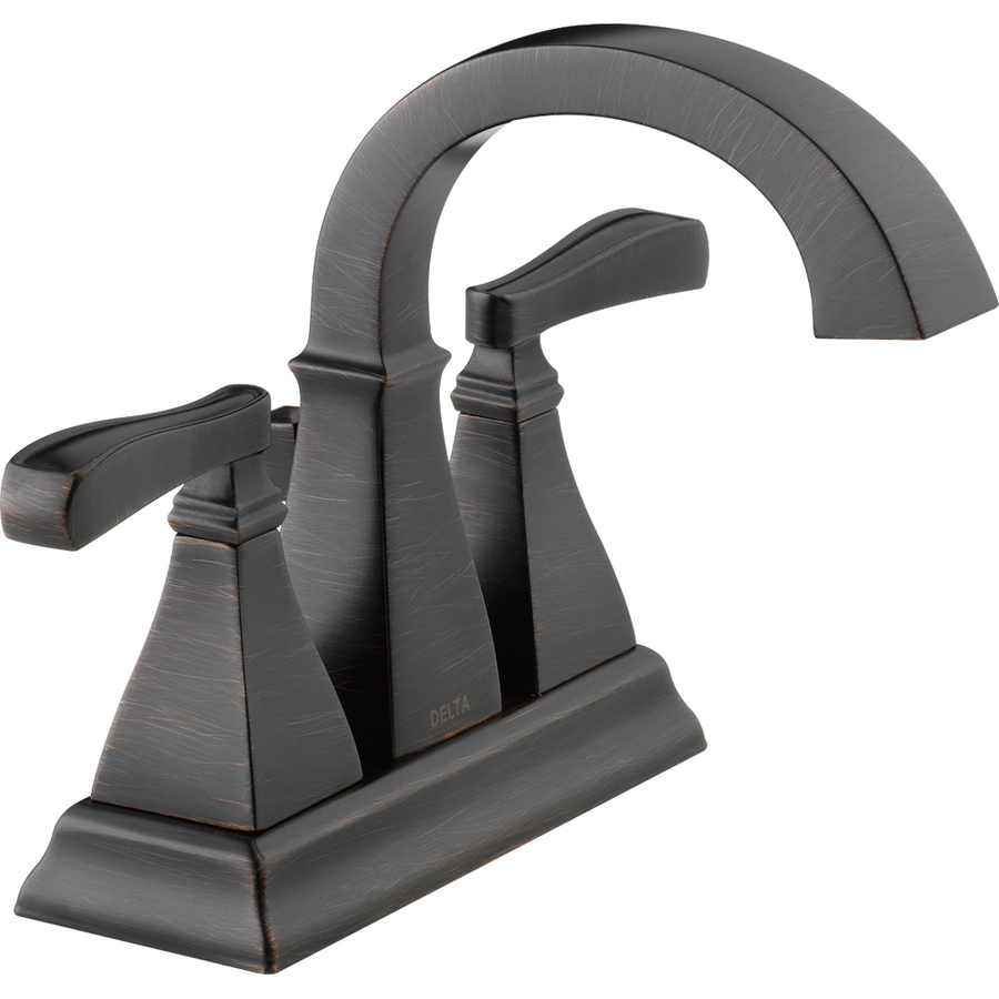 Shop Delta Olmsted Venetian Bronze 2 Handle 4 In Centerset Watersense Bathroom Sink Faucet