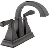 Delta Olmsted Venetian Bronze 2-Handle 4-in Centerset WaterSense Bathroom Sink Faucet (Drain Included)