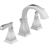 Delta Olmsted Chrome 2-Handle Widespread WaterSense Bathroom Faucet (Drain Included)