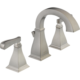 Shop Delta Olmsted Stainless 2 Handle Widespread Watersense Bathroom Faucet Drain Included At