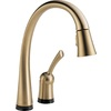 Delta Pilar Touch2O Champagne Bronze 1-Handle Pull-Down Sink/Counter Mount Kitchen Faucet