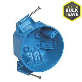 CARLON 1-Gang Blue PVC Interior New Work Standard Round Ceiling Electrical Box