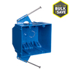 CARLON 2-Gang Blue PVC Interior New Work Standard Switch Outlet Wall Electrical Box