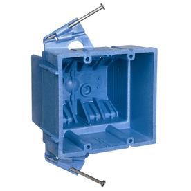 CARLON 35-cu in 2-Gang Plastic Old Work Wall Electrical Box