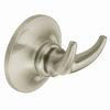 Moen Danbury 2-Hook Spot Resist Brushed Nickel Robe Hook