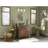 Moen Sage 22.79-in W x 26-in H Oval Tilting Frameless Bathroom Mirror with Brushed Nickel Hardware and Beveled Edges