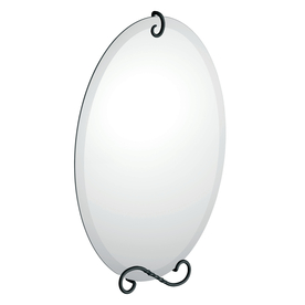 Moen 27-5/8-in H x 19-in W Sienna Oval Frameless Bathroom Mirror with Beveled Edges