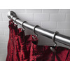 Moen 72-in Brushed Nickel Curved Adjustable Shower Curtain Rod