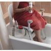 Moen Home Care White Mesh Freestanding Shower Seat