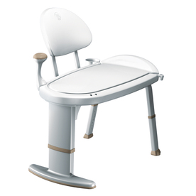 Moen Home Care White Plastic Freestanding Transfer Bench