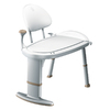 Home Care by Moen White Plastic Freestanding Transfer Bench