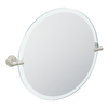Moen Iso 22-in W x 22-in H Round Tilting Frameless Bathroom Mirror with Spot Resist Brushed Nickel Hardware and Beveled Edges