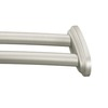 Moen 60-in Brushed Nickel Curved Adjustable Double Shower Curtain Rod