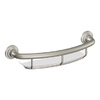 Home Care by Moen 16-in Brushed Nickel Integrated Grab Bar with Straight Shelf