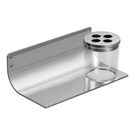 Moen Viq Chrome Stainless Steel Toothbrush Holder and Soap Dish DN6444CH
