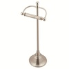 Moen Sage Brushed Nickel Freestanding Floor Toilet Paper Holder