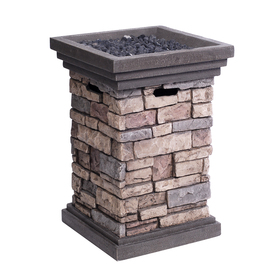 allen + roth Canyon Ridge 19.49-in W 30,000-BTU Stone Design Composite Propane Gas Fire Column