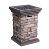 allen + roth 30000 BTU 19.49-in Stone Finish Composite Liquid Propane Fire Pit
